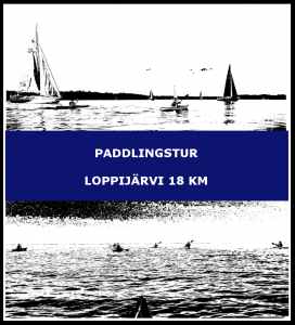 Paddlingstur Loppijärvi 18 km