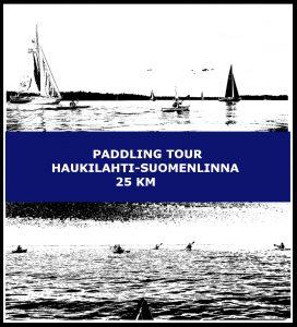 Paddling tour Haukilahti-Suomenlinna 25 km